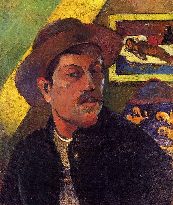Self Portrait in a Hat - Paul Gauguin