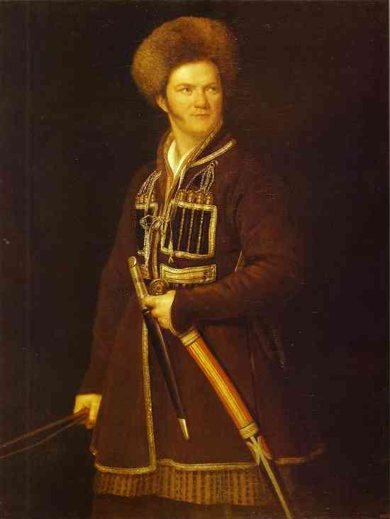 Self-portrait in a Suit of a Caucasian Warrior - Alexander Orlowski