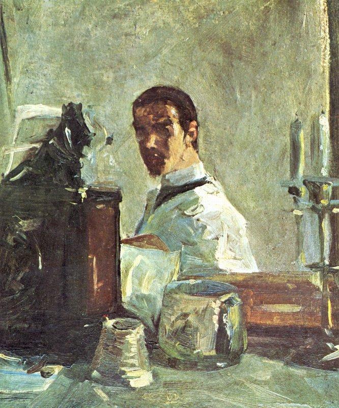 Self-portrait in front of a mirror - Henri de Toulouse-Lautrec
