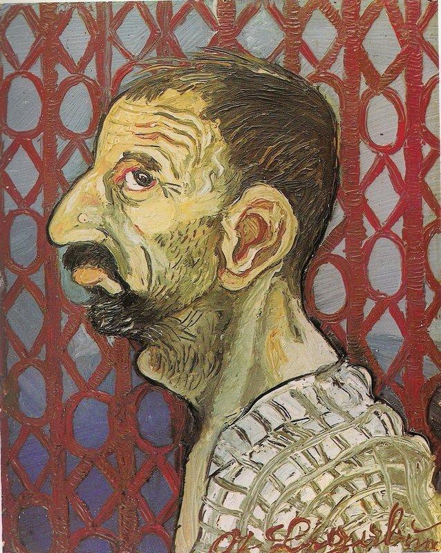 Self-Portrait in profile - Antonio Ligabue