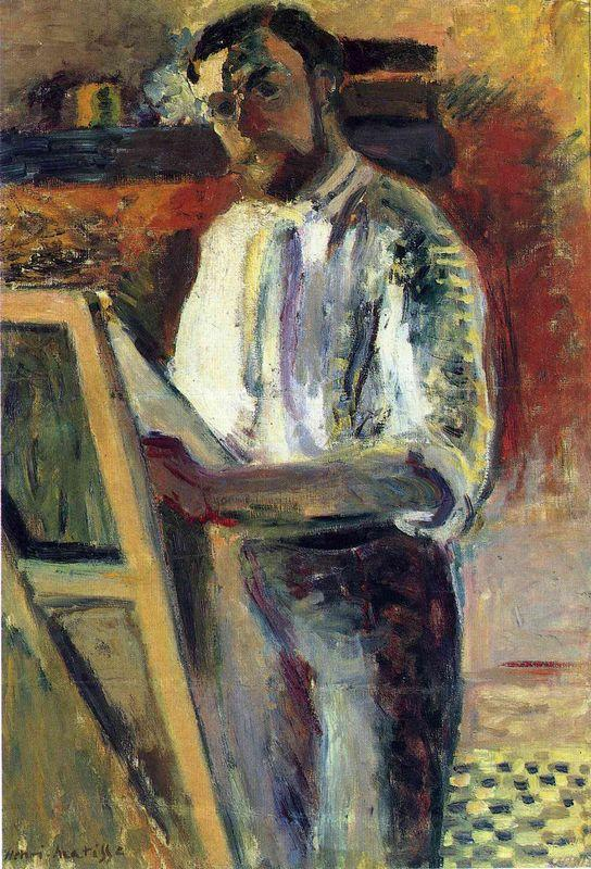 Self-Portrait in Shirtsleeves  - Henri Matisse