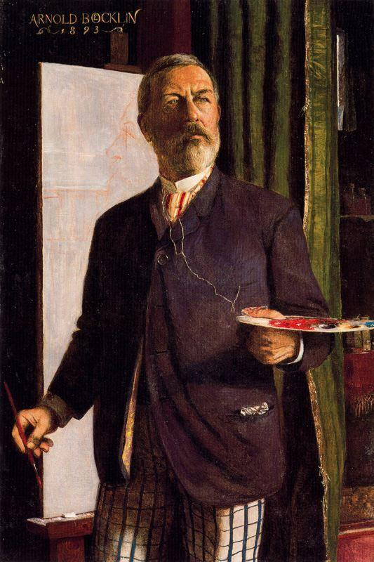 Self-Portrait in Studio - Arnold Bocklin