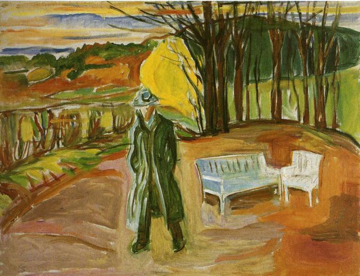 Self-Portrait in the Garden, Ekely - Edvard Munch