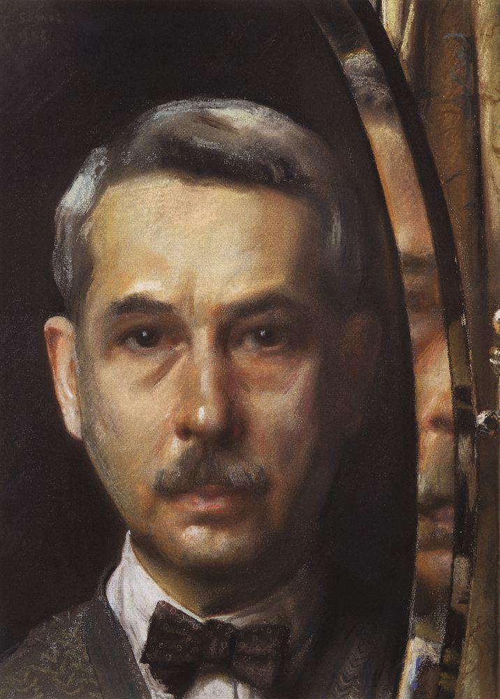 Self-Portrait in the Mirror - Konstantin Somov