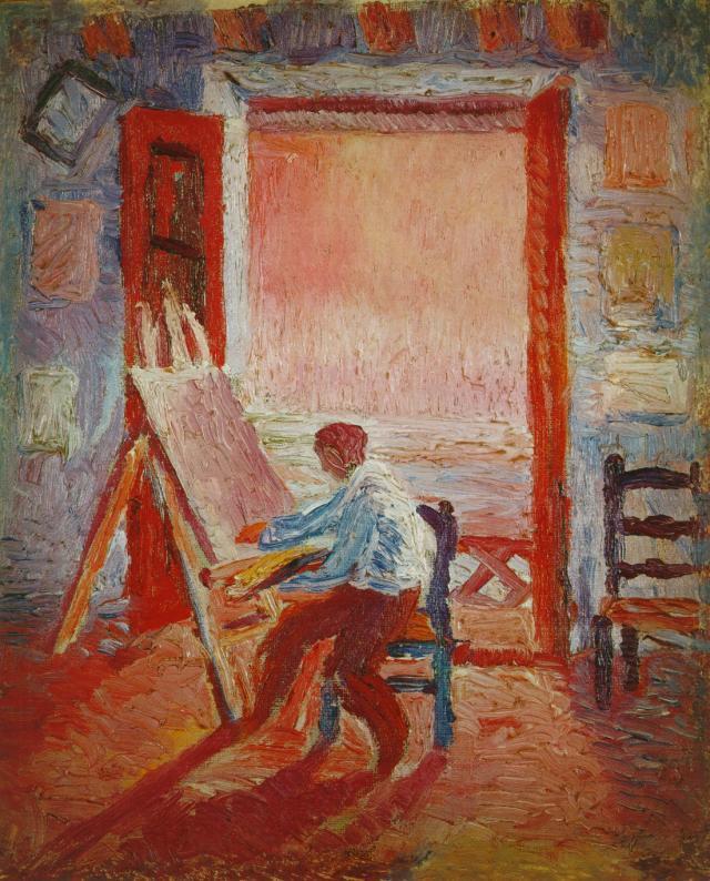 Self-Portrait in the Studio - Salvador Dali