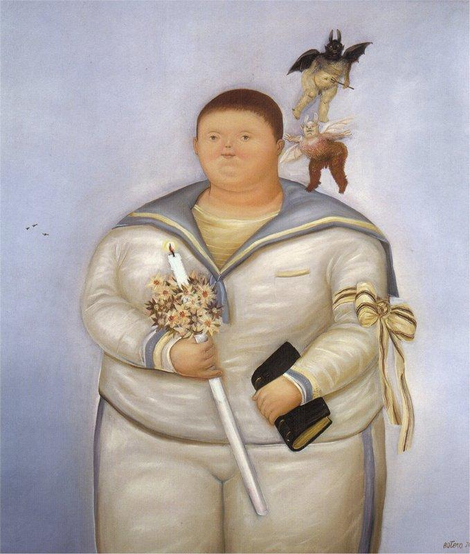 Self-Portrait the Day of the First Communion - Fernando Botero