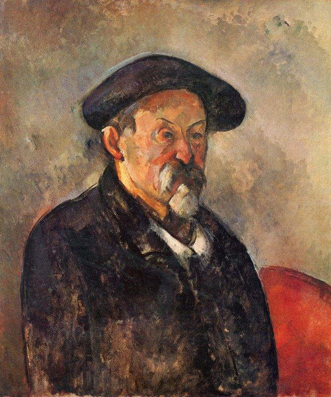 Self-Portrait with Beret - Paul Cezanne