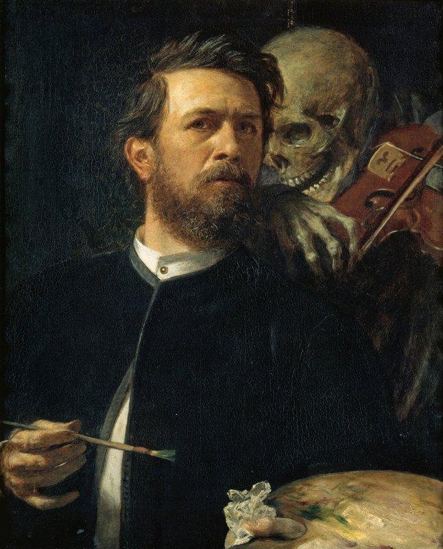 Self-Portrait with Death as a Fiddler - Arnold Bocklin