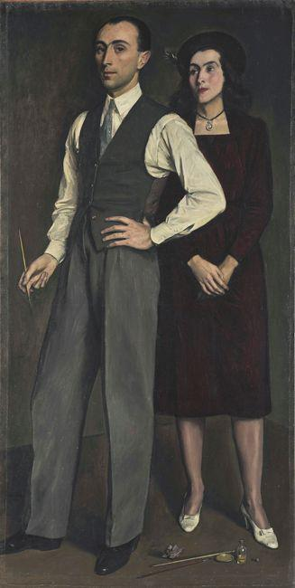 The Artist with his Wife - Yiannis Moralis