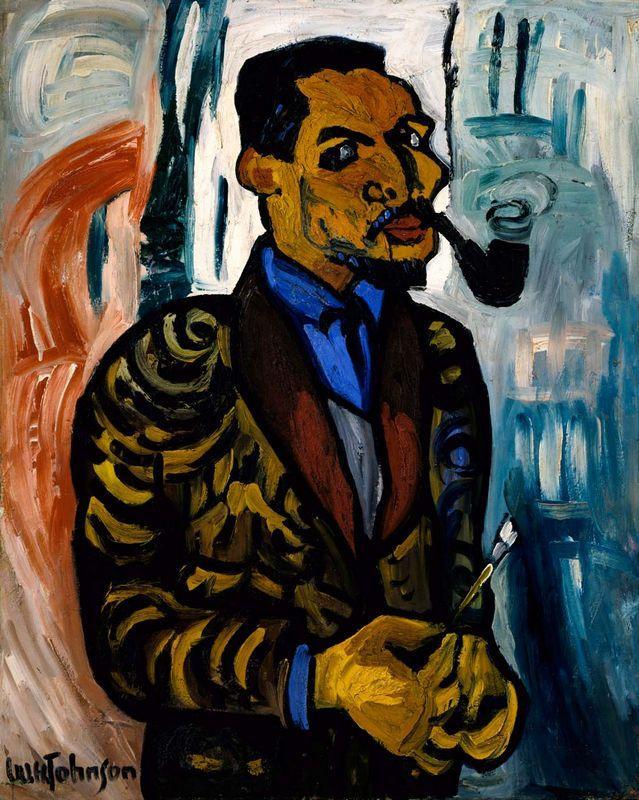 Self-Portrait with Pipe - William H. Johnson
