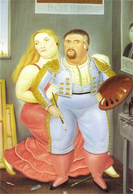 Self-Portrait with Sofia - Fernando Botero