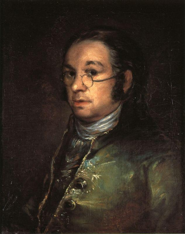 Self portrait with spectacles - Francisco Goya