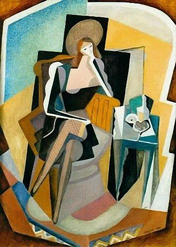Self-Portrait with Still Life - Marevna (Marie Vorobieff)
