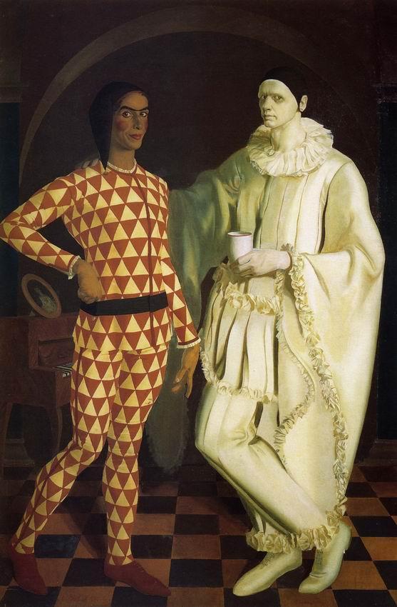 Self-Portraits (Harlequin and Pierrot) - with Vasiliy Shukhaev - Alexandre Jacovleff