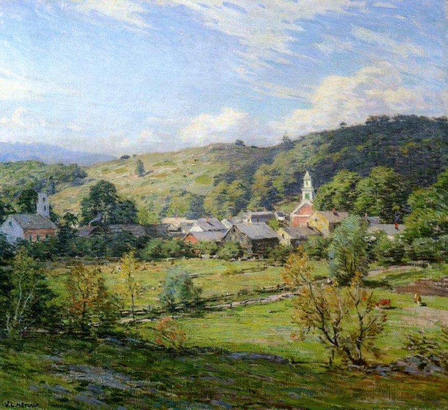 September Morning, Plainfield, New Hampshire  - Willard Metcalf