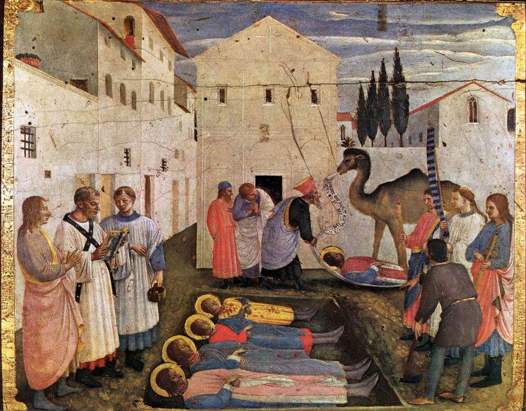Sepulchring of Saint Cosmas and Saint Damian - Fra Angelico