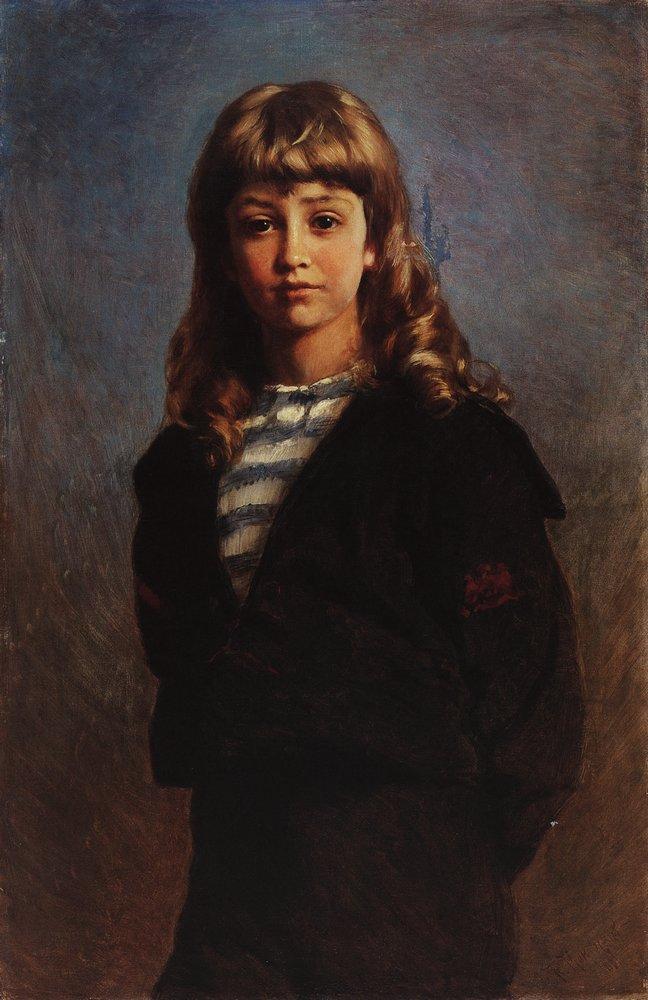 Serezha (Portrait of Son in Sailor Suit) - Konstantin Makovsky