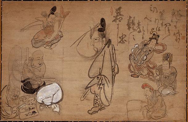 Seven Gods of Good Fortune - Hakuin Ekaku