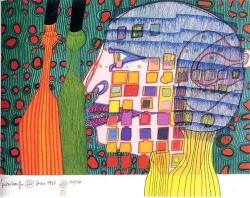660 Shadow of the Stars - Friedensreich Hundertwasser