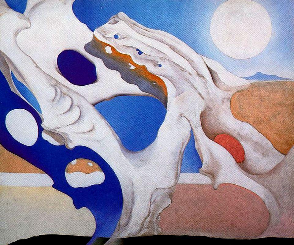 Shadow with Pelvis and Moon - Georgia O'Keeffe