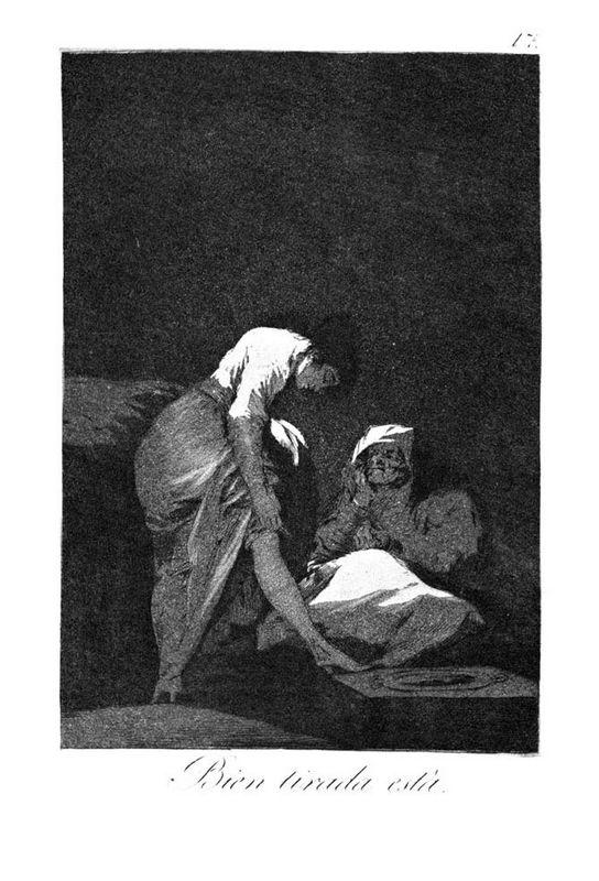 She is well pulled down - Francisco Goya