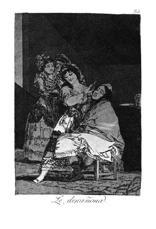 She leaves him penniless - Francisco Goya