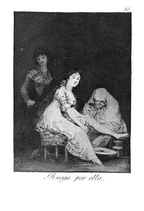 She prays for her - Francisco Goya