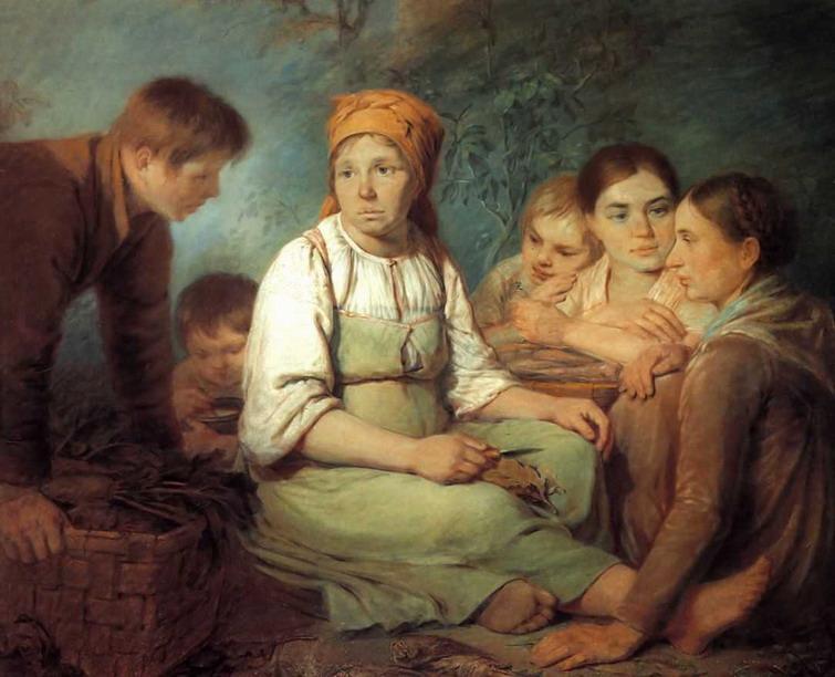 Shelling of beet - Alexey Venetsianov