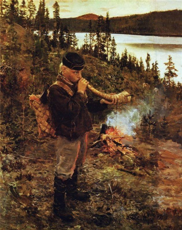 Shepherd Boy from Paanajarvi  - Akseli Gallen-Kallela