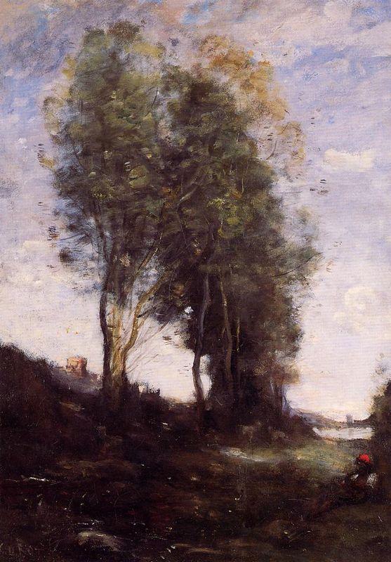 Shepherd Resting - Camille Corot