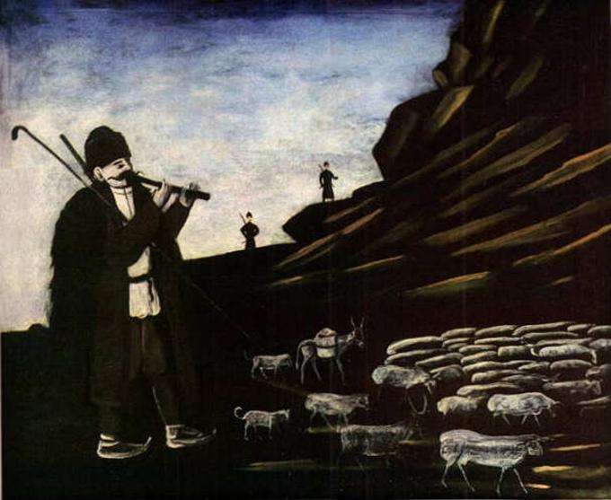 Shepherd with Flock - Niko Pirosmani