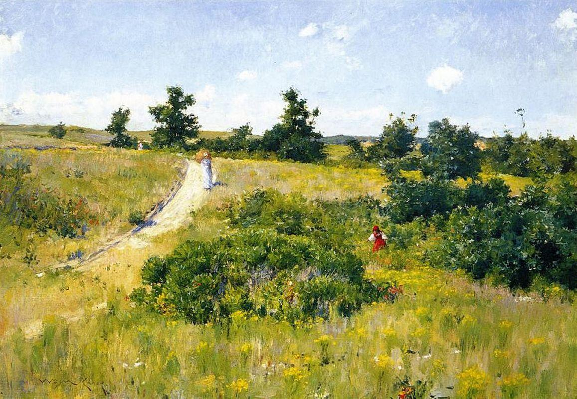 Shinnecock Landscape with Figures - William Merritt Chase