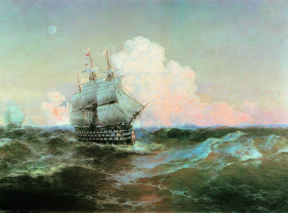 Ship Twelve Apostles - Ivan Aivazovsky