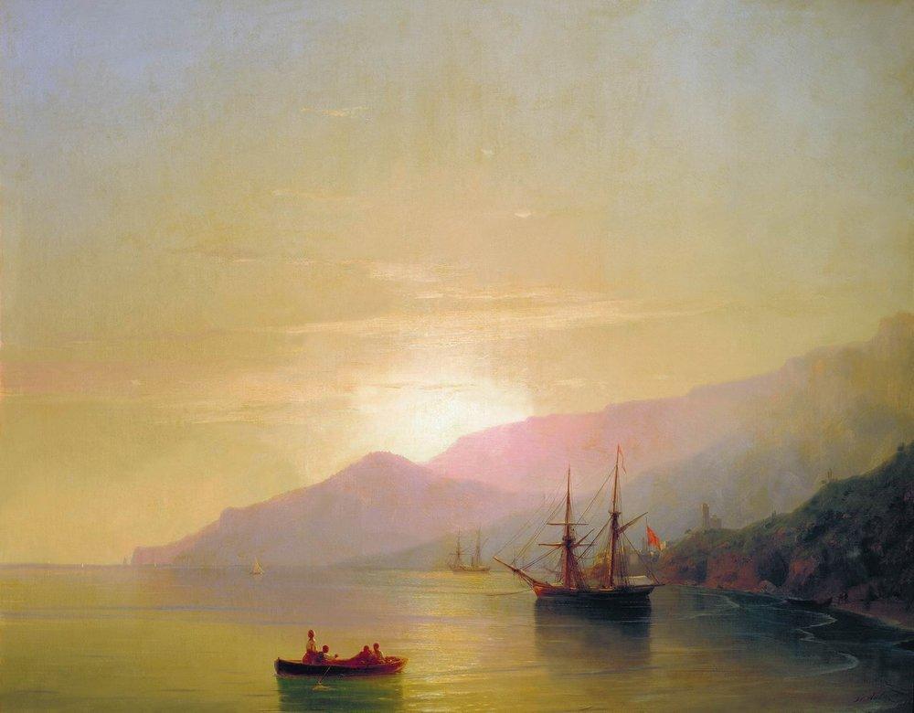 Ships at anchor - Ivan Aivazovsky