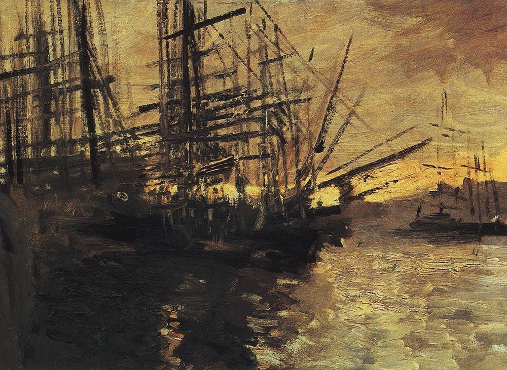 Ships in Marseilles Port - Konstantin Korovin