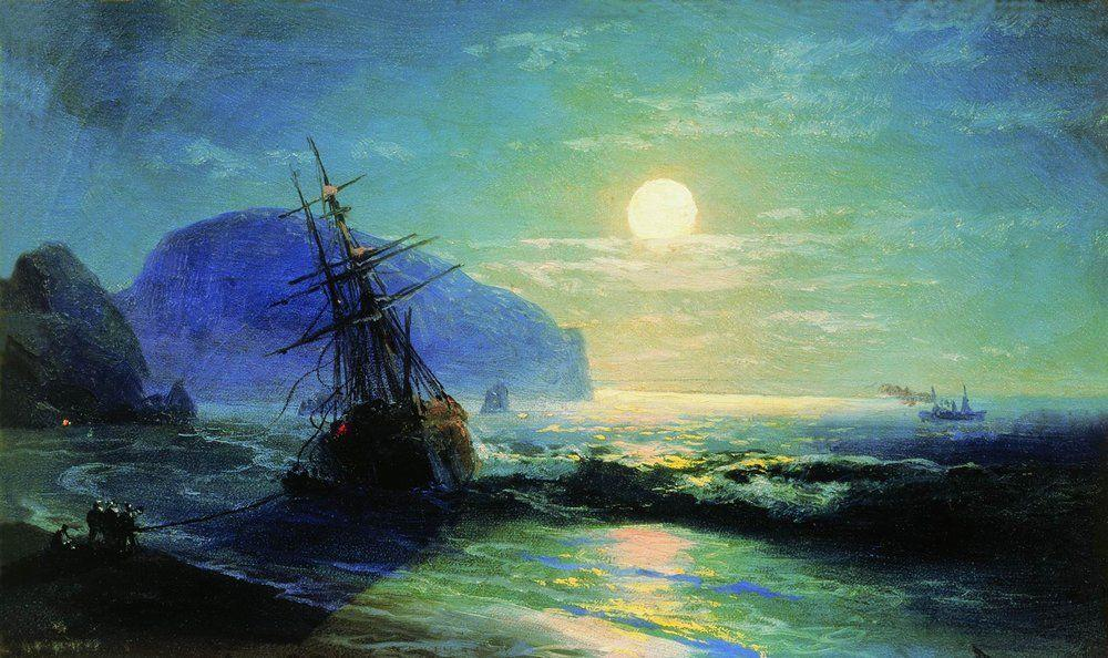 Shipwreck near Gurzuf - Ivan Aivazovsky