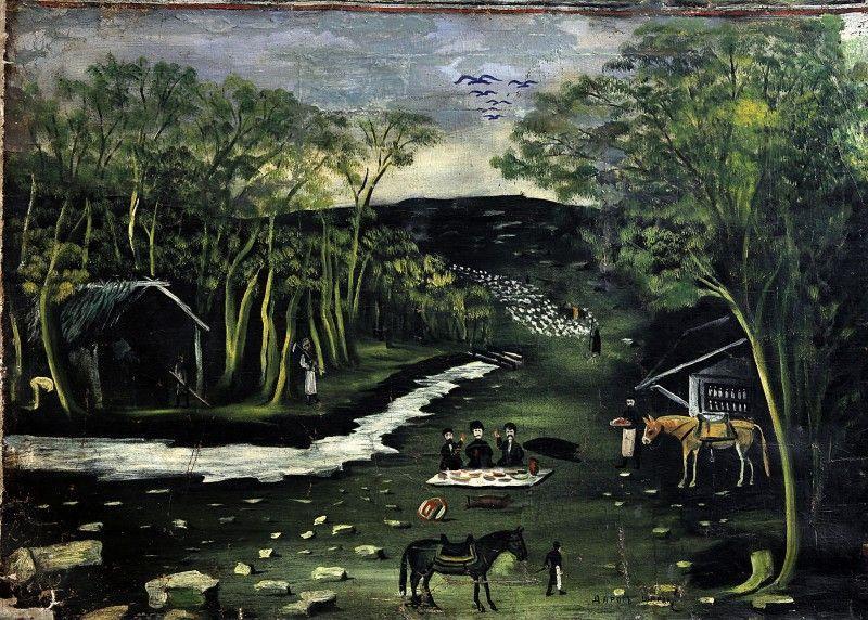 Shiraki (part of Tapestry in six paintings) - Niko Pirosmani