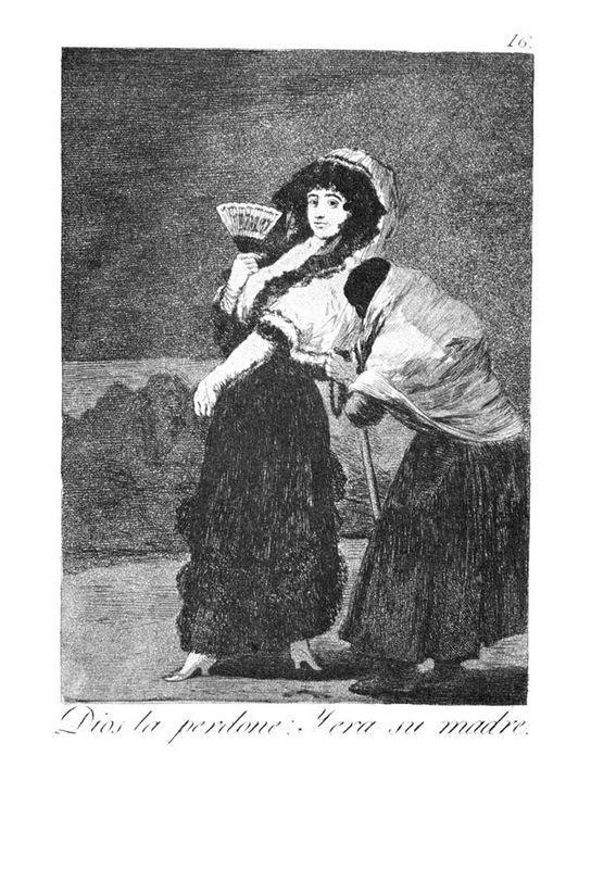 Should God forgive her She was her mother - Francisco Goya
