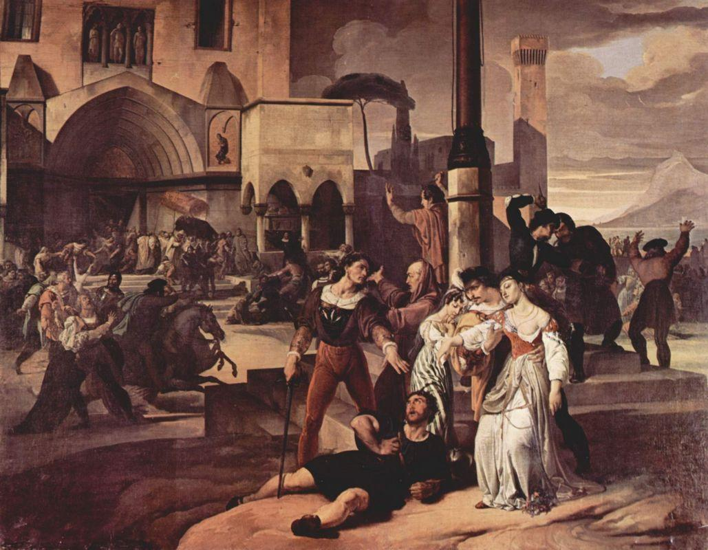 Sicilian evenings painting series, Scene 1 - Francesco Hayez