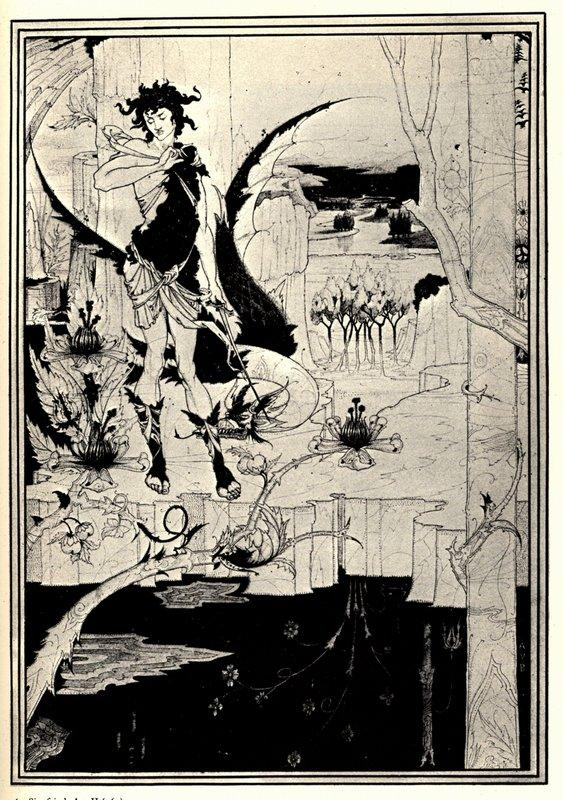 Siegfried illustration, act II - Aubrey Beardsley