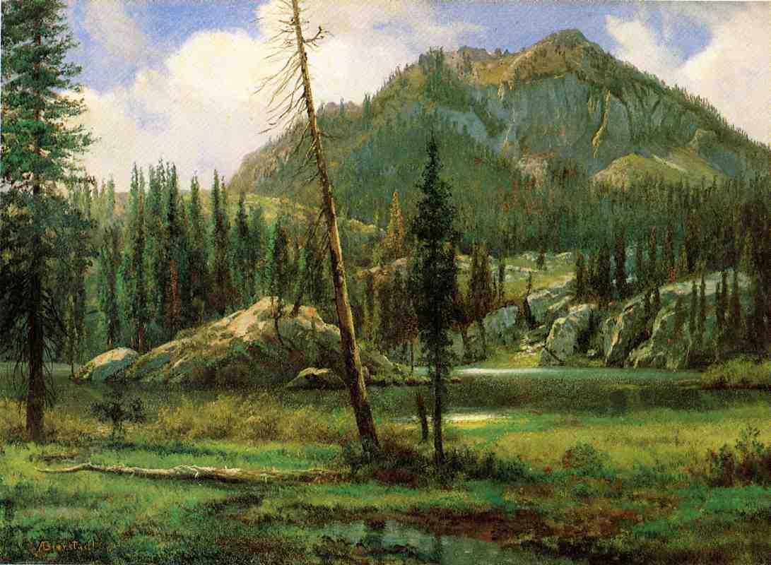 Sierra Nevada Mountains   - Albert Bierstadt