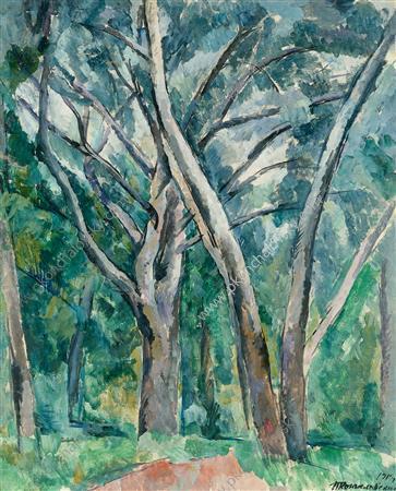 Silver poplar trees - Pyotr Konchalovsky