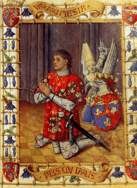 Simon De Varie Kneeling In Prayer - Jean Fouquet
