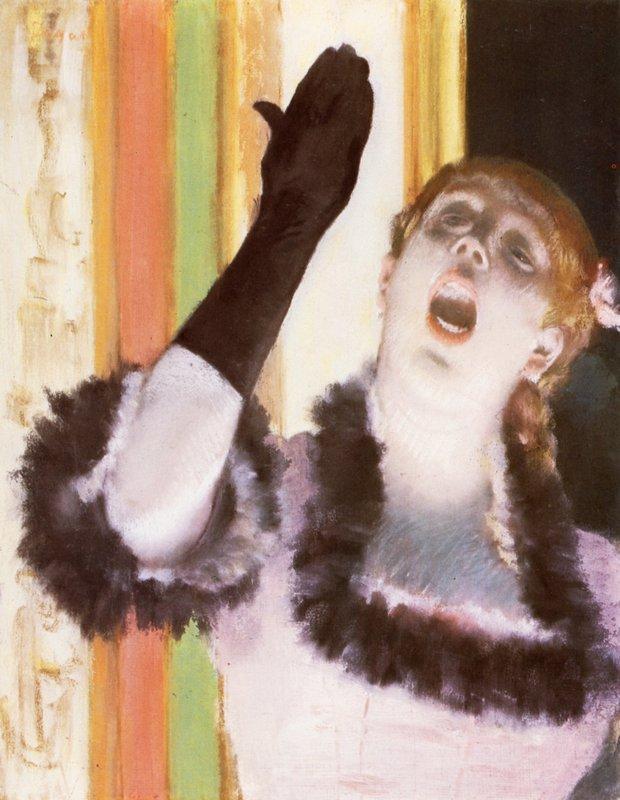 Singer with a glove - Edgar Degas