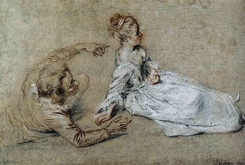 Sitting Couple - Antoine Watteau
