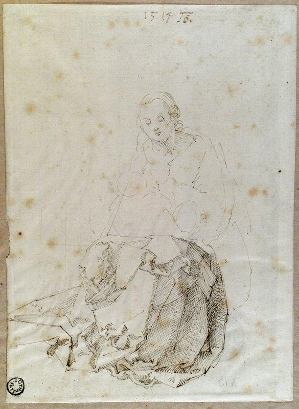 Sitting Mary with child - Albrecht Durer