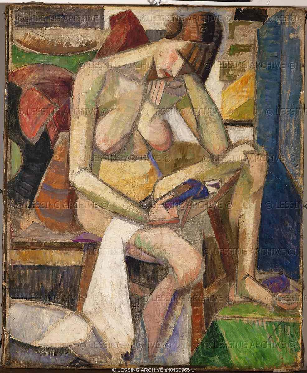 Sitting nude - Albert Gleizes