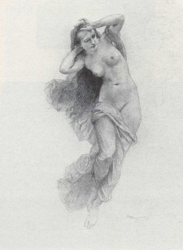 Sketch for Night - William-Adolphe Bouguereau