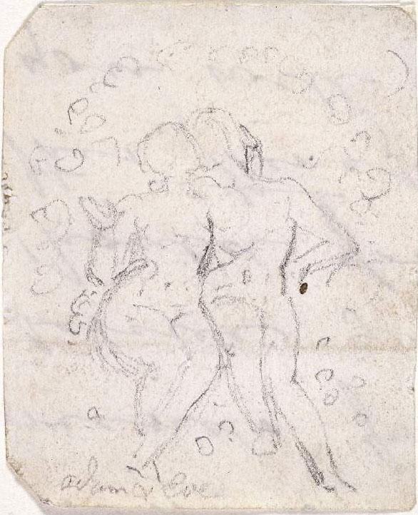 Sketch for Satan Watching the Endearments of Adam and Eve - William Blake