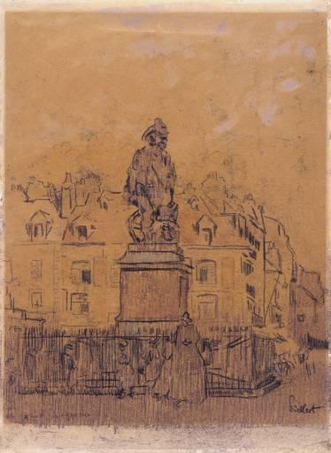 Sketch for `The Statue of Duquesne, Dieppe' - Walter Sickert